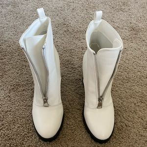 Forever 21 white boots